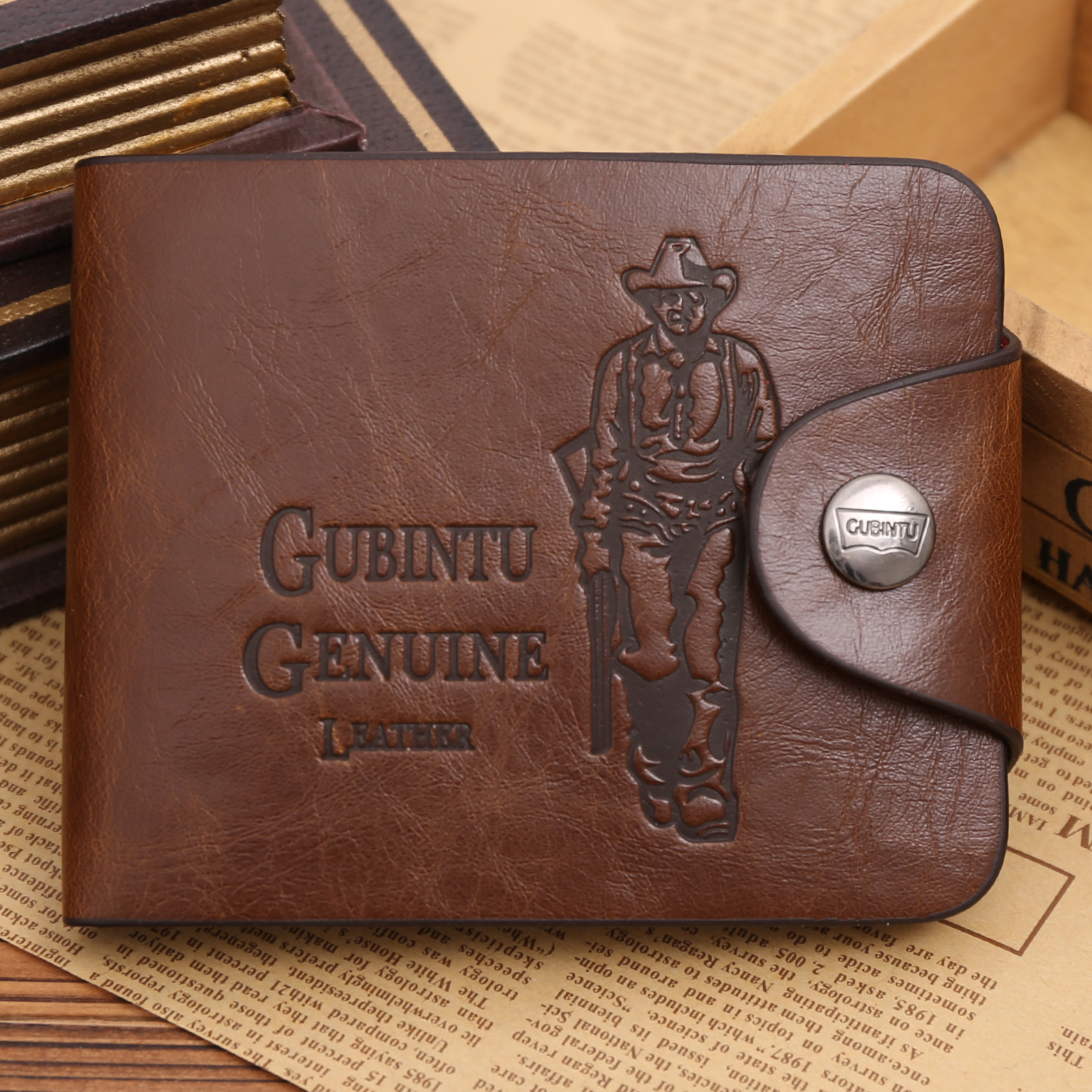 Mini Men Wallet Small Purses Card Holders Cowboy Style Magnetic Buckle Classic Wallet for Dollars Short Purse Billetera Hombre