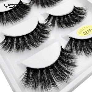 Image 4 - 50 Boxes eyelashes wholesale mink strip lashes natural 3d mink eyelashes faux cils eyelashes maquiagem fluffy false eyelashes G8