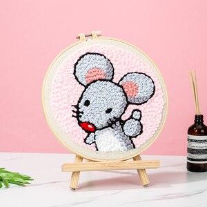 Image 3 - パンチ針漫画ペン魔法の刺繍クロスステッチキット刺繍裁縫セット生地 diy 工芸ミシンアクセサリー