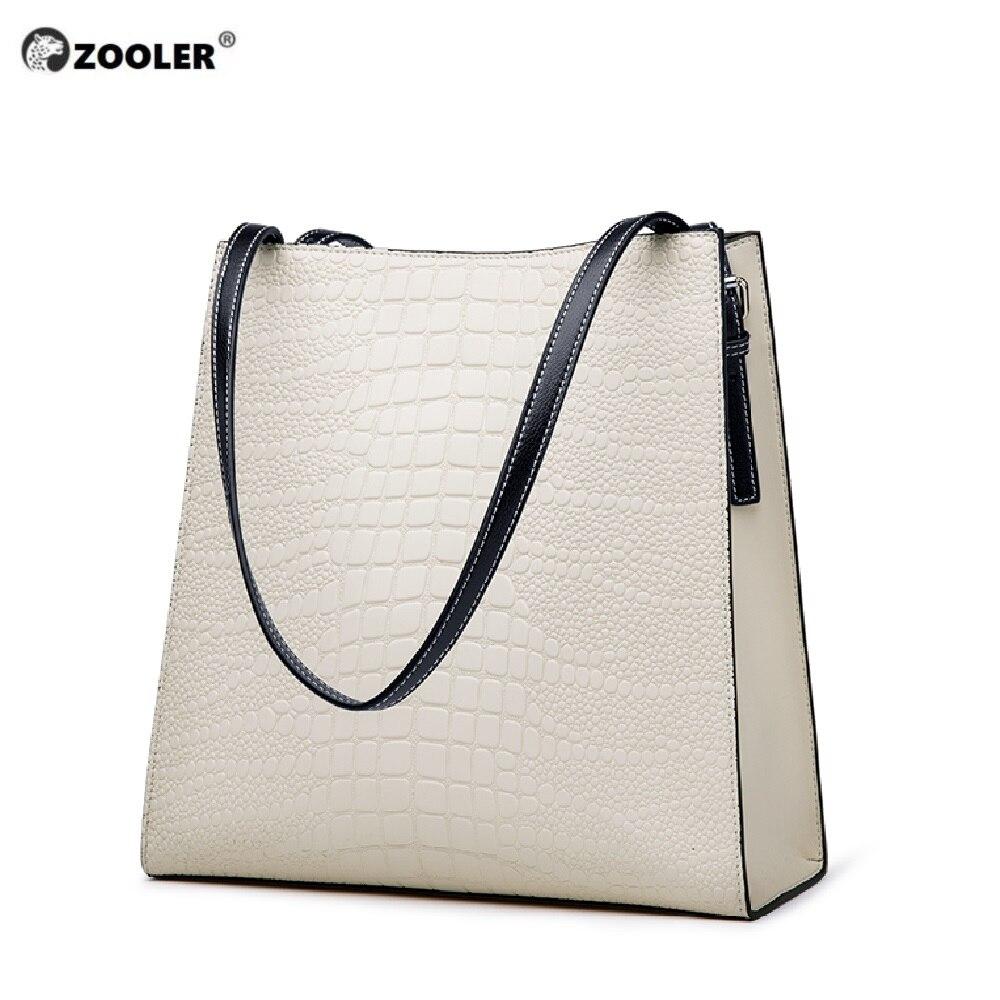 Bagaj ve Çantalar'ten Üstten Saplı Çanta'de 2019 yeni! hakiki deri kadın çantası ZOOLER lüks tasarımcı çanta çanta büyük tote yüksek kaliteli el çantası bolsa feminina # M506'da  Grup 1