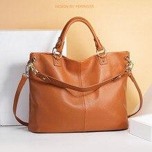 Big Handbag Tote-Bags Women's Bag Shoulder Solid-Color Fashionable Top-Grade Genuine-Cowhide