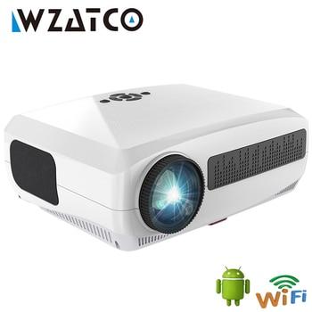 WZATCO-Proyector C3 4K para cine en casa, reproductor multimedia 3D para videojuegos, Android 10,0, WIFI, 1920x1080