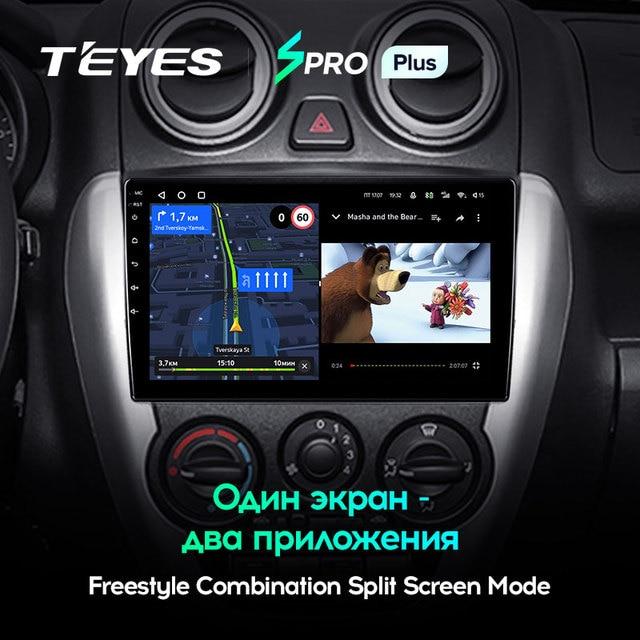 TEYES SPRO Plus Штатная магнитола For Лада ВАЗ Гранта Спорт For LADA Granta Sport 2011 - 2018 Android 10, до 8-ЯДЕР, до 4 + 64ГБ 32EQ + DSP 2DIN автомагнитола 2 DIN DVD GPS мультимедиа автомобиля головное устройство 5