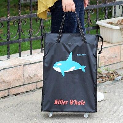 Портативная тележка для продуктов Женская Мужская сумка складная сумка тележка Сумка на колесах купить Сумка для овощей хозяйственная сумка трейлер XYLOBHDG - Цвет: E