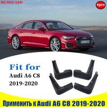 4pcs ste Mudflaps FOR Audi A6 C8 2019 2020 Mudguards Fender Mud Flap Guard Splash Mudguard Fender car accessories auto styline