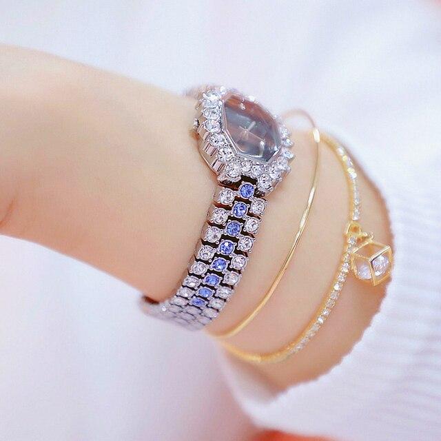 Watches Womens 2020 Top Luxury Brand Small Dress Diamond Watch Women Bracelet Rhinestone Wristwatch Women Montre Femme  5