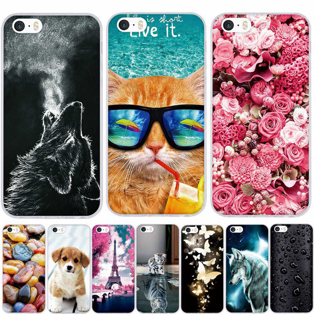 Case for iphone 5 5s SE Case Silicone 3D Soft TPU Cover for iphone 5s Case q50
