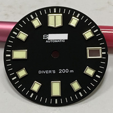Watch-Parts Automatic Movement NH35A Dial-C3 Sterile Luminous-Watch Black 6015 Suitable-For