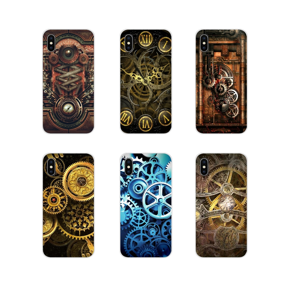 Accessories Phone Cases Covers Mechanical Gears steampunk For Samsung Galaxy S2 S3 S4 S5 Mini S6 S7 Edge S8 S9 S10E Lite Plus