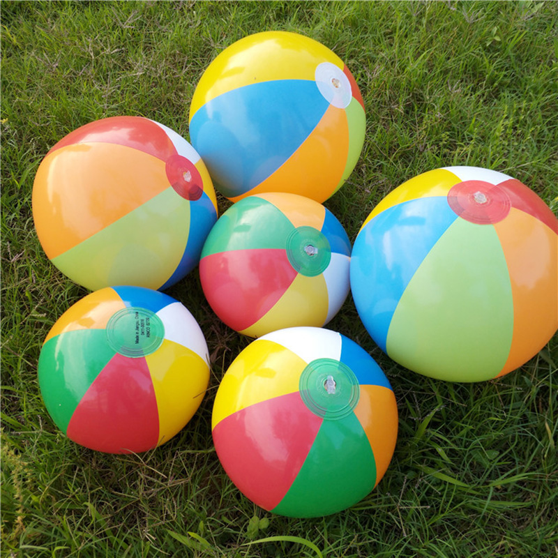 Kids Funny Toy Colorful Inflatable Beach Ball Balloons Swimming Pool Ball Play Party Water Game Beach Sport Balls For Baby Kid