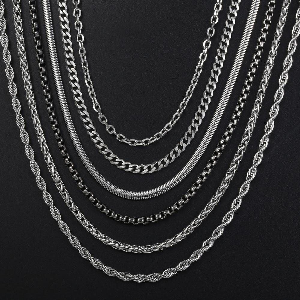 24 INCH SILVER STAINLESS STEEL 4MM ROLO  LINK ROPE CHAIN NECKLACE