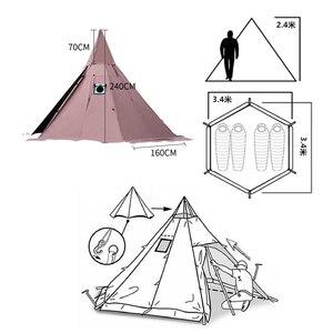 Image 5 - Namiot piramidowy z otworem kominowym/wieżowy namiot okienny namiot parkowy dwuwarstwowy namiot polowy zawiera pół namiotu wewnętrznego
