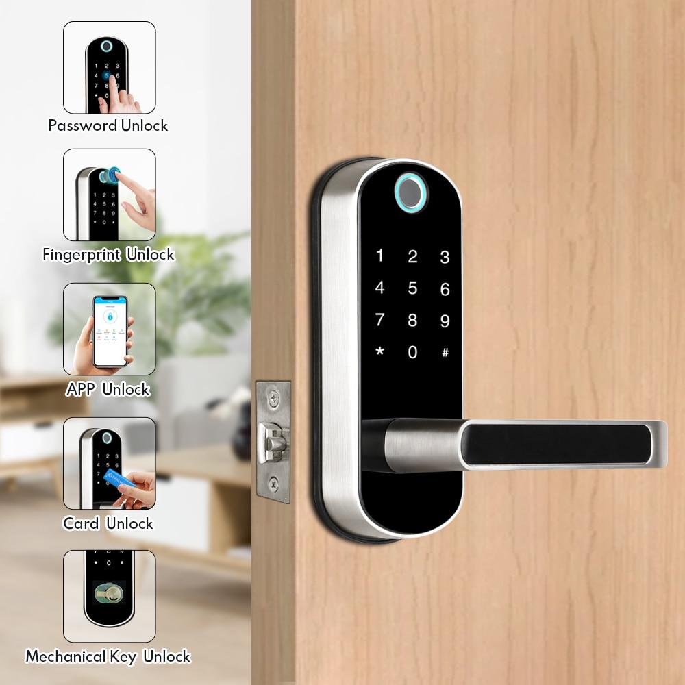 Wifi APP Fingerprint Door Lock Smart Electronic Lock  TTlock APP Security Digital Lock Doorbell Biometric Bluetooth Door Lock