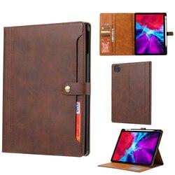 Роскошный кожаный чехол-книжка с откидной крышкой для iPad Air 4 10,9 дюйма, кошелек для карт, подставка, Чехол для iPad Pro 11