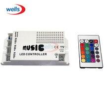 DC12-24V Musik Sound LED Controller mit 3 Kanäle 9A 24key IR Fernbedienung für 5050 3528 5630 RGB LED Streifen licht