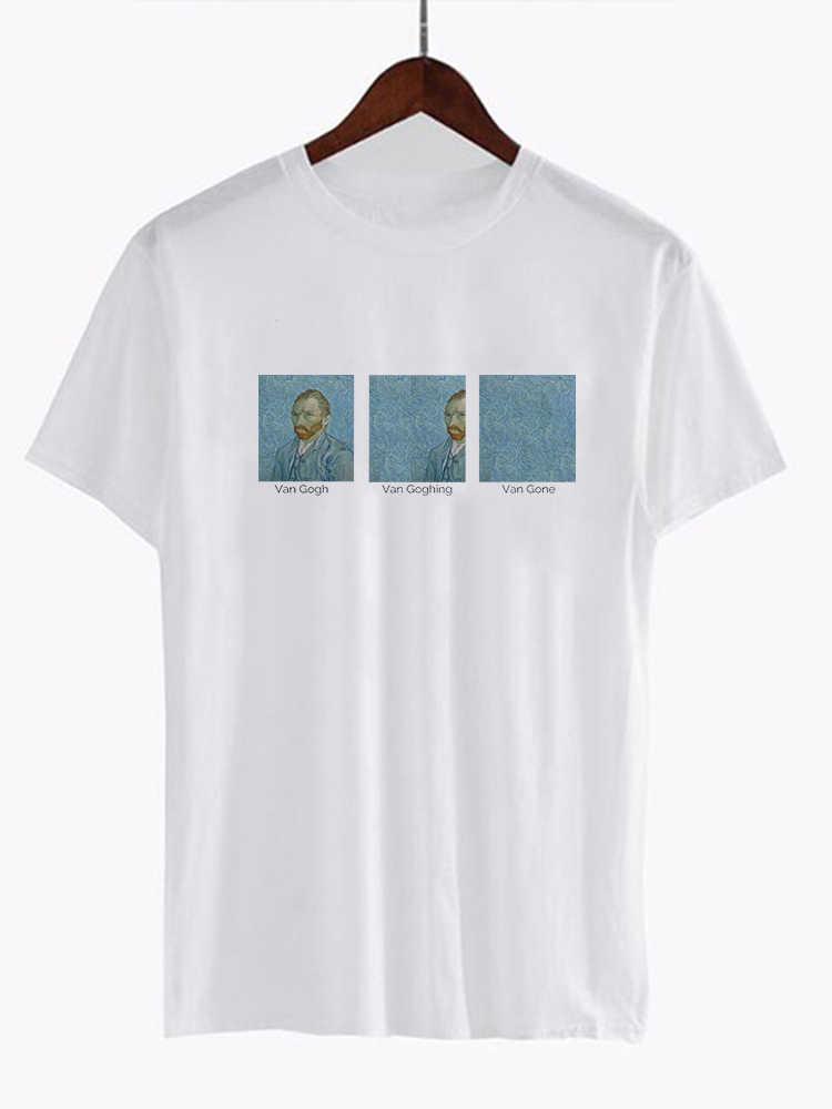 Unisex Van gogha Van Goghing Van nie ma Meme zabawna koszulka ludzi ze świata mody słodkie podkoszulek z nadrukiem