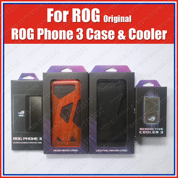 AeroActive Cooler 3 Cooling Fan For ASUS ROG Phone 3 Case Original LED Lighting Armor Case Tempered Glass Screen Protection