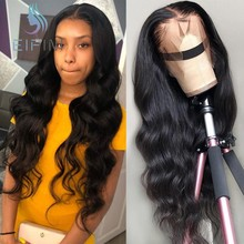 180% Density Lace Closure Wigs Pre Plucked Malaysian 13x6 Deep Body Wave Lace Front Wigs With Baby Hair For Black Women Eifini(China)