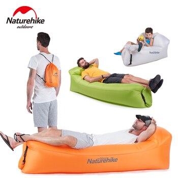 Aire de Sofá inflable para exteriores Naturehike, sofá portátil Lamzac, tumbona inflable para el sol, silla hinchable, bolsa para perezosos, cama de aire de plátano