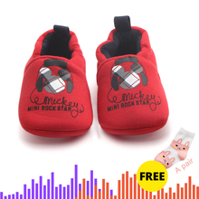 Buy One Get Two Newborn 0-24 Months Baby Boy Girl Cotton Fabric Moccasins Soft Shoes Fringe Soled Nonslip Crib First Walker