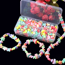 DIY Handmade Beaded Kids Jewelry Making Necklace Bracelets Headdress Beads Kit Box Storage Craft For Jewelry Making Accessories