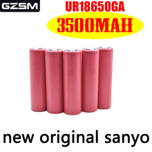 GZSM 18650 battery for Sanyo UR18650GA 3500mAh 3.7V 10A rechargeable For flashlight