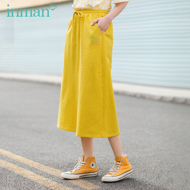 INMAN 2020 Summer New Arrival Sport Leisure Nifty Slimmed Prue Cotton Skirt