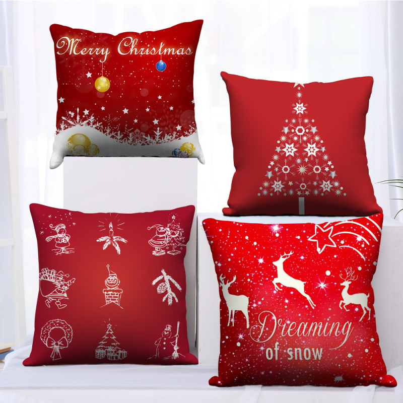 Купить наволочки nanacoba red merry christmas рождественский подарок