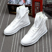 Brand Men Fashion Casual Shoes Ankle Boots PU Leather Thick