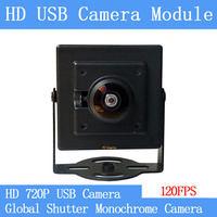 720P Global Shutter monochrome High Speed 120FPS USB Camera Module Wide angle Non Distortion UVC Linux CCTV Surveillance camera
