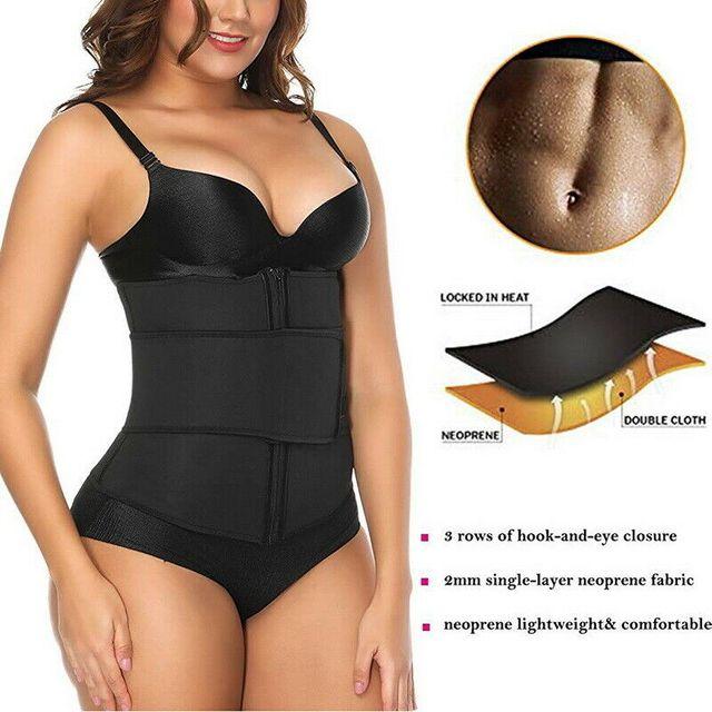 Waist Trainer Thermo Sweat Belt Waist Trainer Girdle Corset Women Tummy Body Shaper Shapewear Fat Burning Fitness Modeling Strap 4