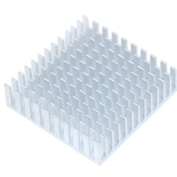 Disipador de calor de aluminio, Enfriador de refrigeración del radiador para Chip electrónico IC, ordenador LED con cinta conductora térmica, 2 uds.
