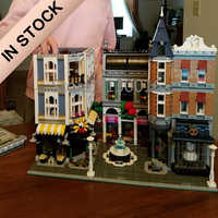 10255 créateur assemblage carré romantique Restaurant 15019 4122 pièces Street View modèle blocs de construction briques éducation jouets