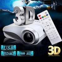 Nuevo Mini proyector LED 3D HD 1080P portátil transparente Multimedia Home Theater USB VGA HDMI sistema de cine en casa