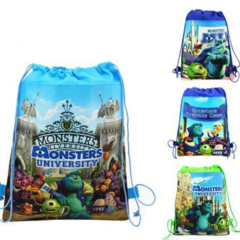 Cartoon Drawstring Bag Non-Woven Fabric School Backpack For Boy Girl Children Shoulder Bag Student Book Bag Kids School Bag Gift