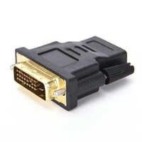 1 Uds. De adaptador de M-F, convertidor DVI-D 24 + 1 Pin macho a HDMI hembra, adaptador para Monitor LCD HDTV