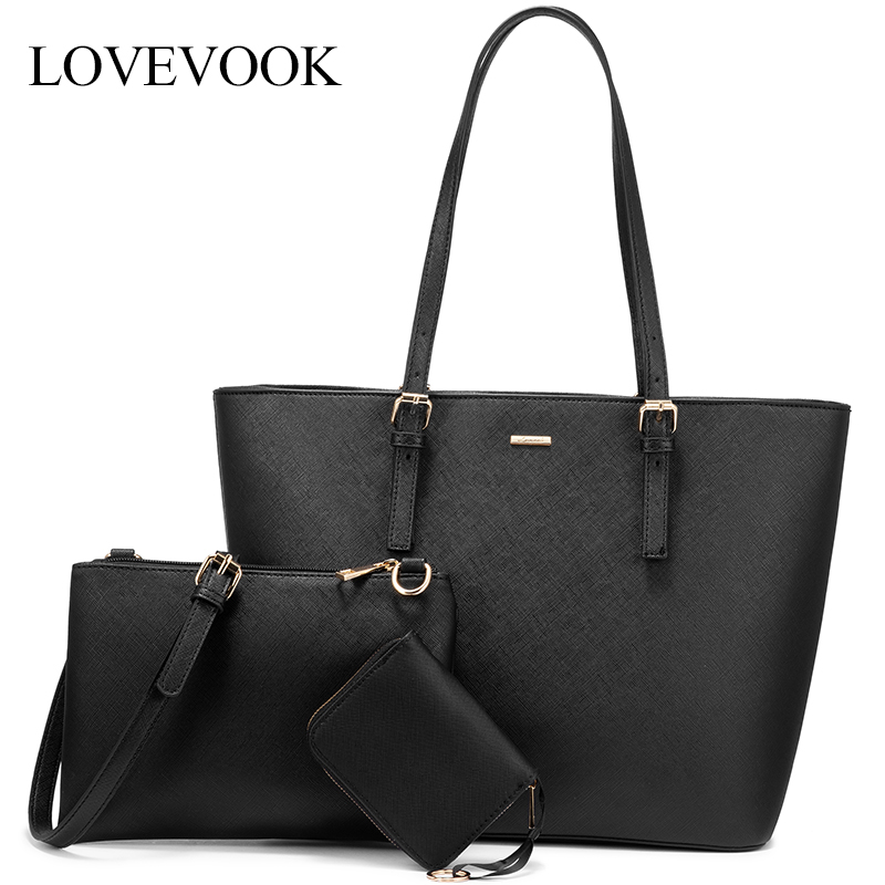 LOVEVOOK Women Bag Set Shoulder Bags  For Ladies Crossbody Bag Female Large Tote Bag Women Handbag Purse And Clutch For Work