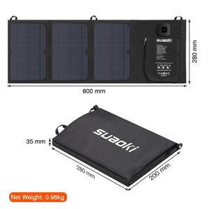 Image 5 - Suaoki 21W 태양 전지 패널 충전기 배터리 접이식 방수 태양 에너지 LED 디스플레이 듀얼 USB 5V/4A 출력 아이폰 X 8 화웨이