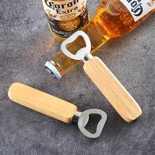 Manico in legno di gomma apribottiglie in acciaio inossidabile bottiglia di Soda cacciavite forniture per la casa Necesidades Diarias Del # GM