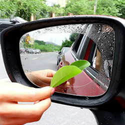 2Pcs/set Car Rear Mirror Protective Films Bathroom Mirror Auto Rear View Mirror Anti Fog Window Clear Rainproof Soft Film
