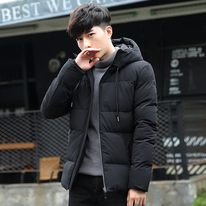 Casual Jacket Men Autumn Winter Style Light Weight Overcoat Outerwear  Slim Fit Coats Cotton Thick Warm Hooded Men's Jacket Coat