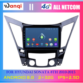 4G Lte All Netcom 9 inch Android 8.0 For HYUNDAI Sonata 8 Sonata YF 2010-2015 HD Car GPS Navigation support swc