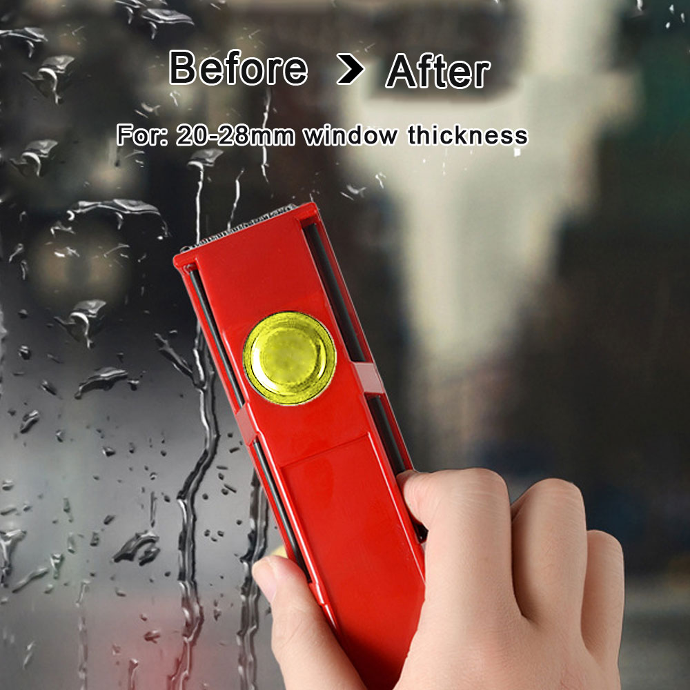 Portable Magnetic Glass Window Cleaner Brush Single Glazing Windows Glass Dust Brush Cleaner Cleaning Tool for Home Clean Tool