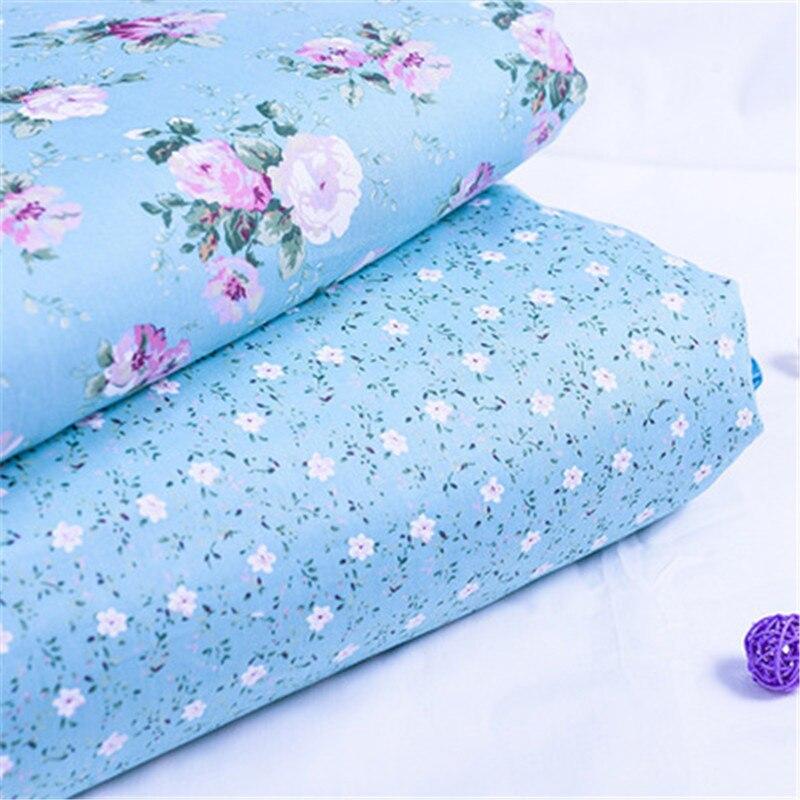 Cotton Printed Fabric Floral Polka Dot Cloth Elegant Flowers Handmade DIY Clothing Hug Pillowcase Sheet Accessories