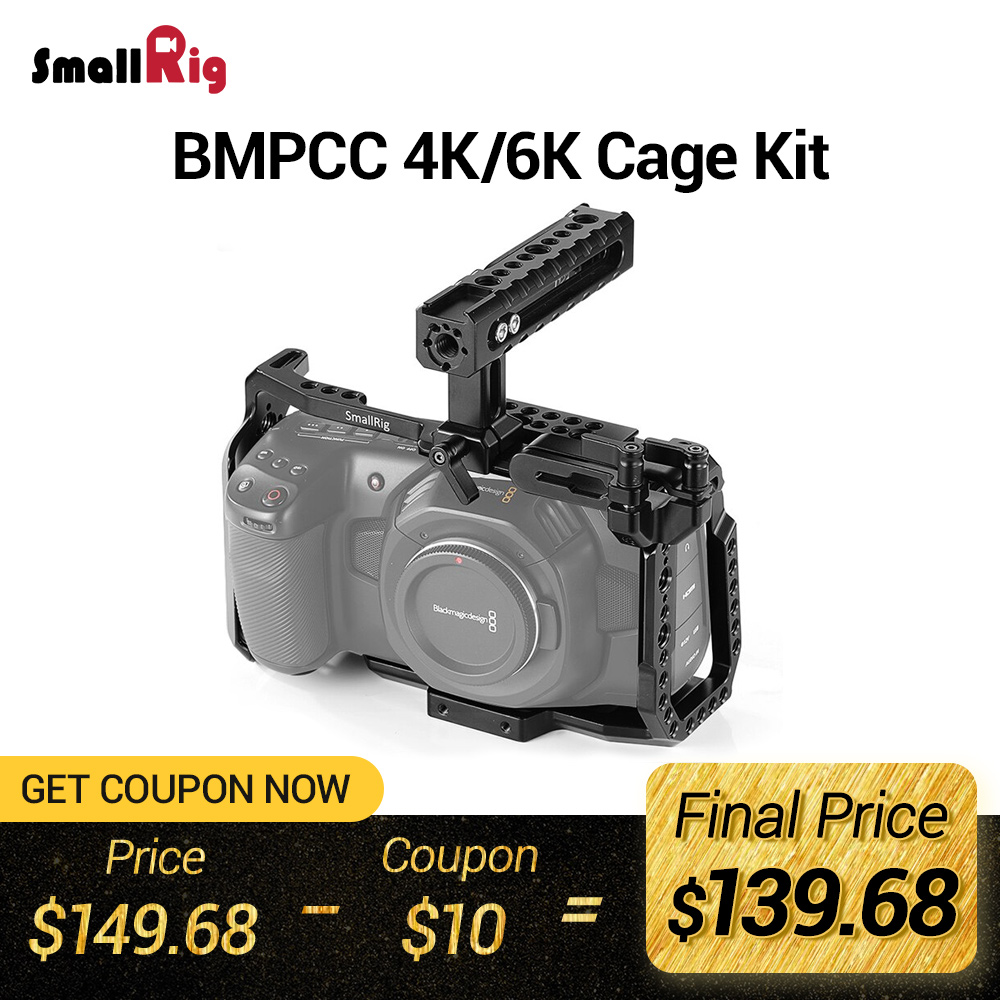 SmallRig BMPCC 4 K Cage Kit for Blackmagic Design Pocket Cinema Camera 4K BMPCC 4K / BMPCC 6K Comes with Nato Handle SSD Mount(China)