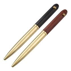 2 szt. Szyld w stylu vintage długopis żelowy czarny tusz czysta miedź do podróży  biura  biznes drewniany kulkowy długopis metalowy  czarny i czerwony na