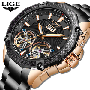 2020 New Army Military Mens Watches LIGE Top Brand Luxury Automatic Mechanical Clocks Sport Watch For Man Tourbillon Wrist Watch