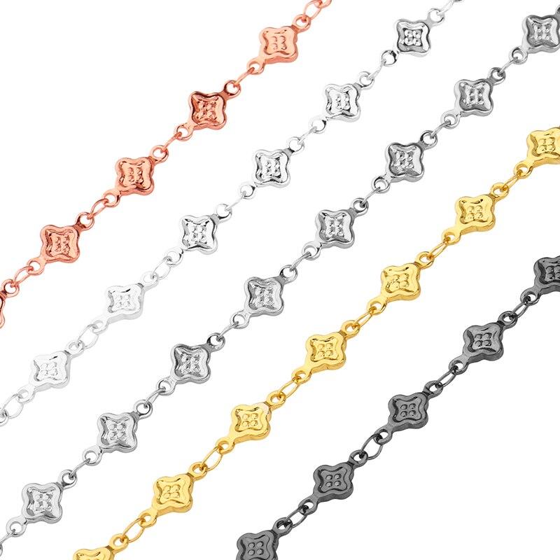 1 metre Ucuz Paslanmaz Çelik Zincir 5.5*10 MM Dalga Erik El Yapımı Zincir Bilezik Kolye Moda erkek Kadın DIY Takı Yapımı