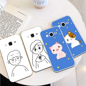 Girl Man 3 Silicon Soft TPU Case Cover For Samsung Galaxy Core Grand Prime Neo Plus 2 G360 G530 I9060 G7106 Note 3 4 5 8 9 image