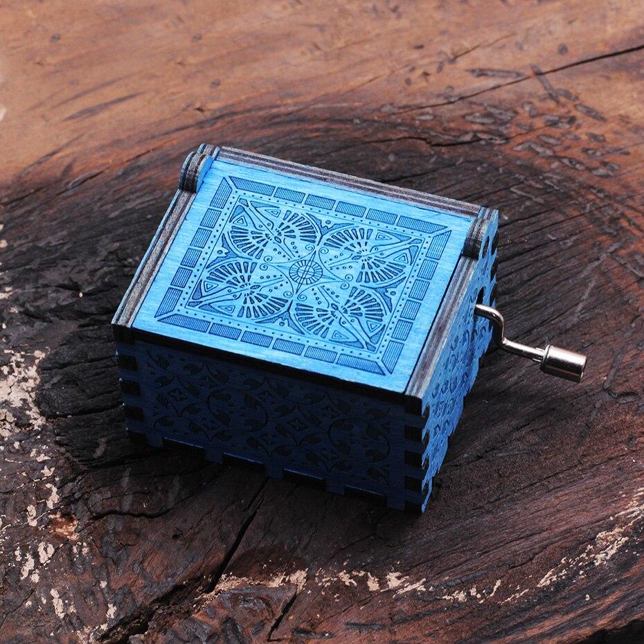 Деревянная музыкальная шкатулка для игры в трон, подарок на Рождество, день рождения, год, подарок для детей - Цвет: HP